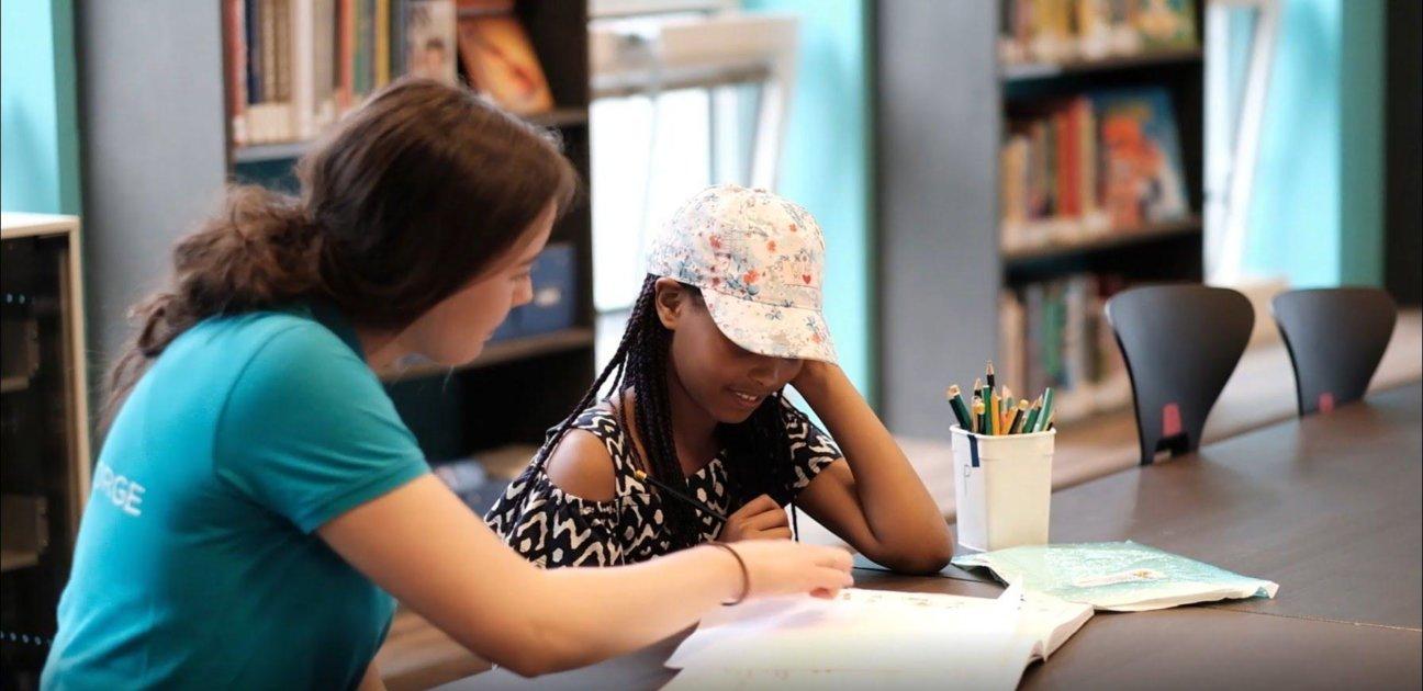 Katarina med elev