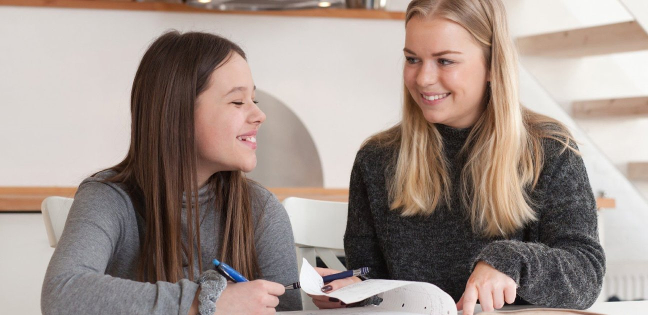Kvinnelig mentor og elev